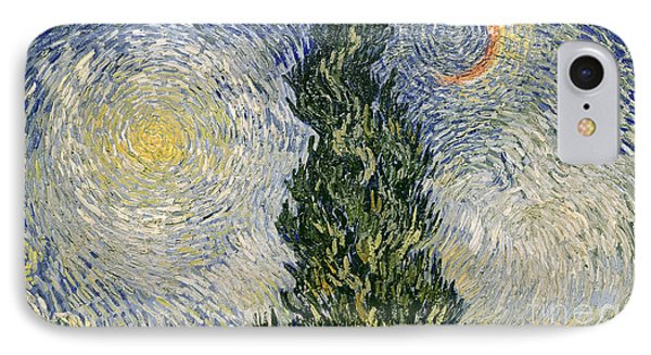 Road With Cypresses Phone Case by Vincent Van Gogh