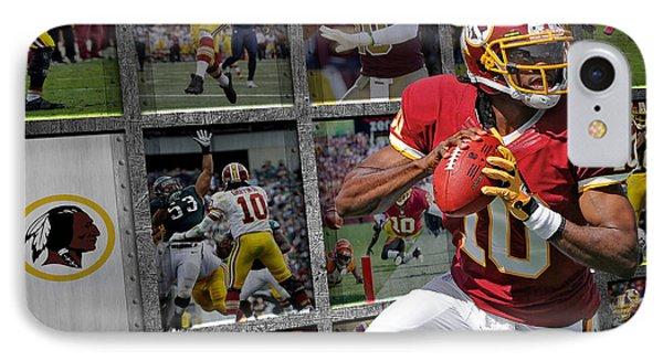 Robert Griffin Rg3 Washington Redskins IPhone Case by Joe Hamilton