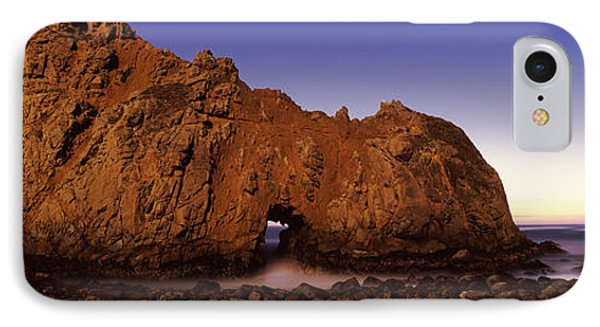 Rock Formation On The Beach, One Hour IPhone Case by Panoramic Images