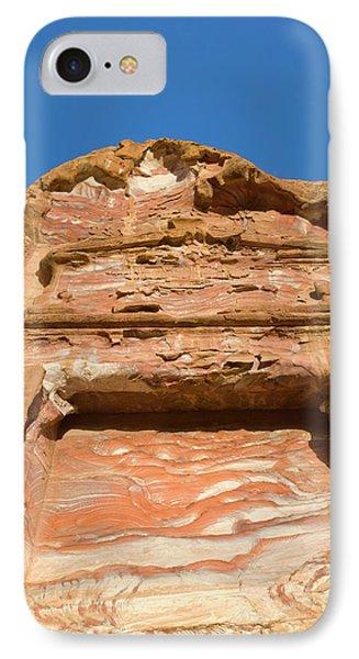 Rock Texture Of Cave Wall, Petra, Jordan IPhone Case by Keren Su