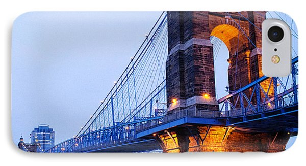 Roebling Suspension Bridge IPhone Case by Tanya Harrison