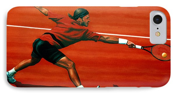 Roger Federer At Roland Garros IPhone 7 Case by Paul Meijering