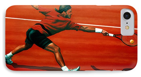 Roger Federer At Roland Garros IPhone Case by Paul Meijering