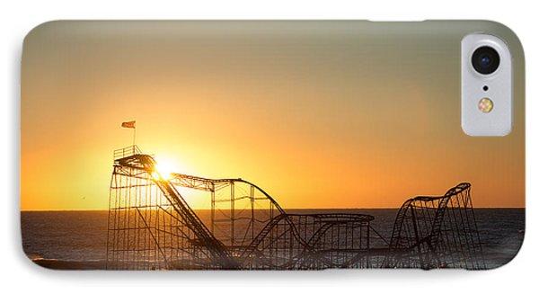 Roller Coaster Sunrise Phone Case by Michael Ver Sprill
