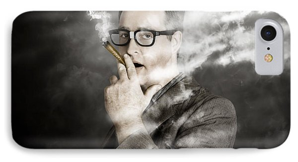 Rolling Rich Millionaire Businessman Smoking Money IPhone Case