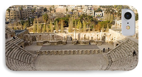 Roman Theater, Amman, Jordan IPhone Case by Adam Sylvester