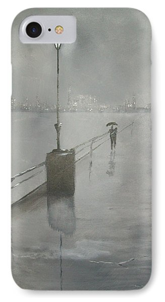 Romantic Walk In The Rain IPhone Case by Raymond Doward