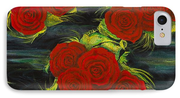 Roses Floating IPhone Case by Cathy Long