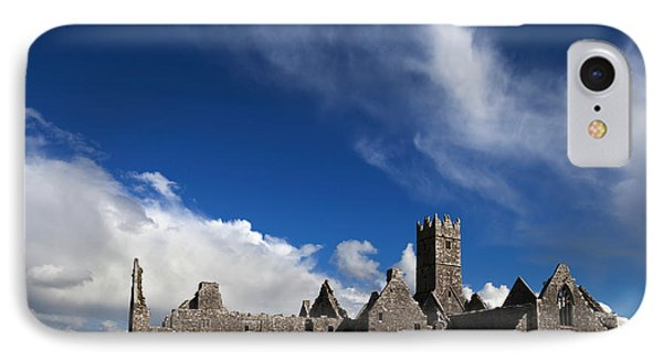 Ross Errilly Franciscan Friary 1351 IPhone Case by Panoramic Images
