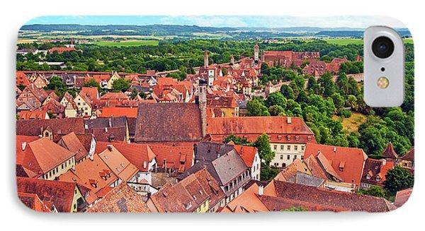 Rothenburg Ob Der Tauber, Bavaria IPhone Case by Miva Stock