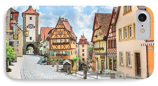 Rothenburg Ob Der Tauber IPhone Case by JR Photography