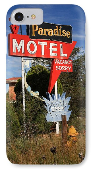 Route 66 - Paradise Motel Phone Case by Frank Romeo