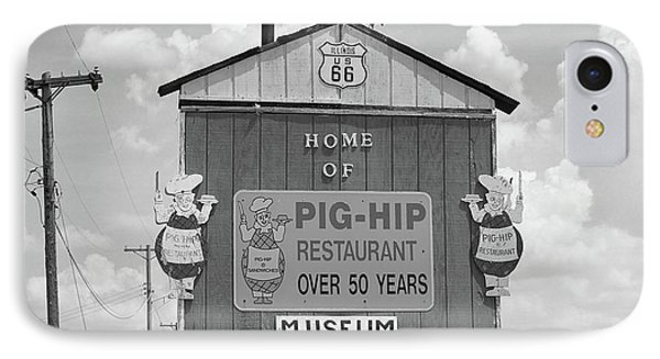 Route 66 - Pig-hip Restaurant Phone Case by Frank Romeo