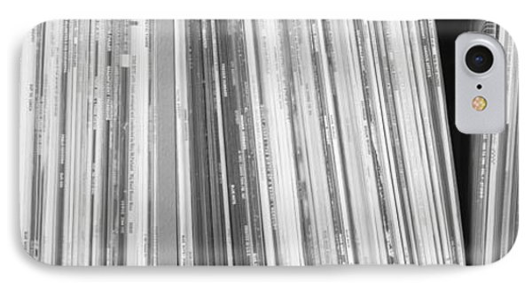 Row Of Music Records, Germany IPhone Case by Panoramic Images