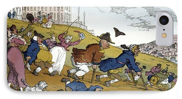 Rowlandson Cartoon, 1810 IPhone Case by Granger