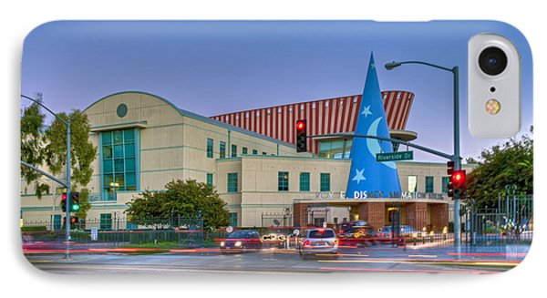 Roy E. Disney Animation Building In Burbank Ca. IPhone Case by David Zanzinger
