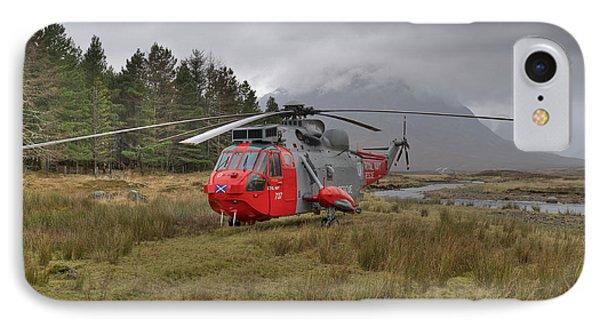 Royal Navy Sar Sea King Xz920 Glencoe IPhone Case