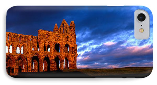 Ruins Of A Church, Whitby Abbey IPhone Case by Panoramic Images