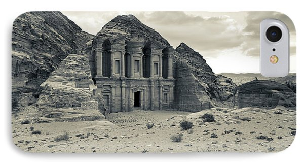 Ruins Of Ad Deir Monastery At Ancient IPhone Case