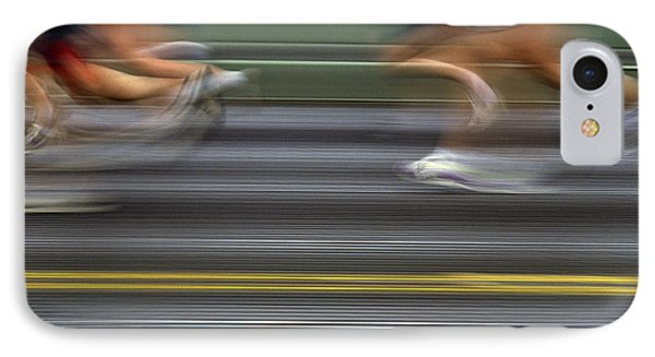 Runners Blurred Phone Case by Jim Corwin