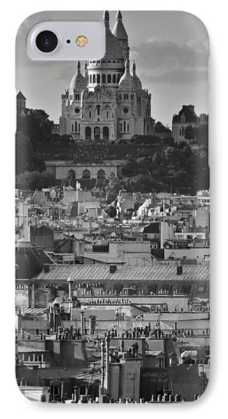 Sacre Coeur Over Rooftops Phone Case by Gary Eason