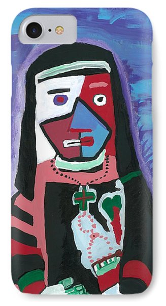 IPhone Case featuring the painting Sad Nun by Don Koester