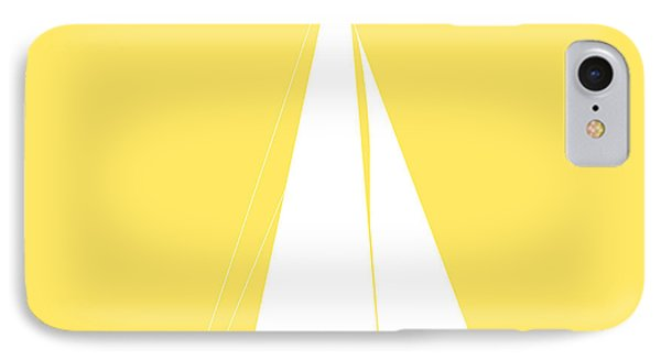 Sailboat In Yellow And White IPhone Case