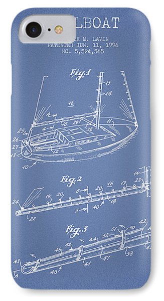 Sailboat Patent From 1996 - Vintage IPhone Case by Aged Pixel