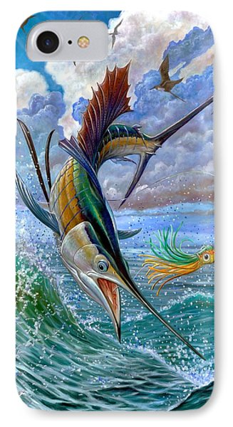 Sailfish And Lure Phone Case by Terry Fox
