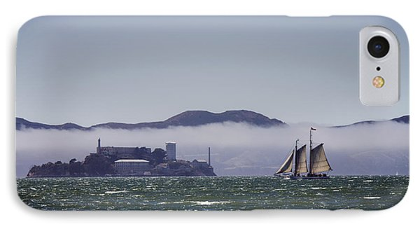 Sailing To Alcatraz Phone Case by Dee  Savage