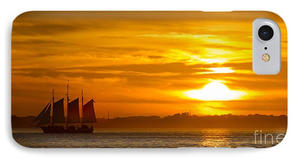Sailing Yacht Schooner Pride Sunset IPhone Case by Dustin K Ryan