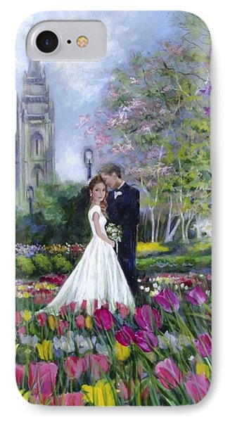 Salt Lake Temple-married In Spring IPhone Case
