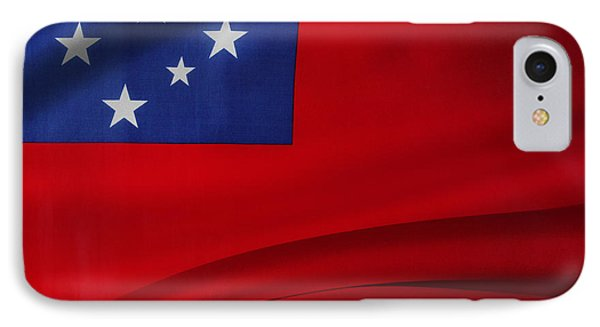 Samoan Flag IPhone Case by Les Cunliffe
