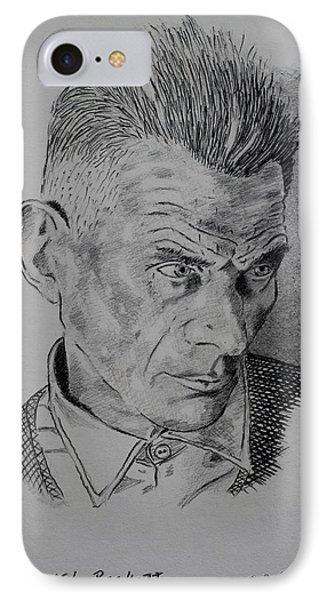 Samuel Beckett IPhone Case by John  Nolan
