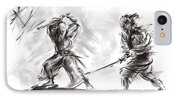 Samurai Fight. IPhone Case