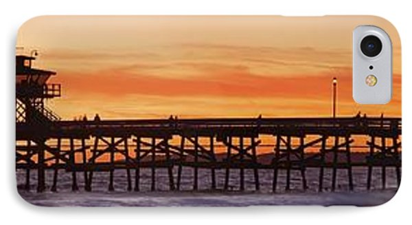 San Clemente Municipal Pier In Sunset Phone Case by Richard Cummins