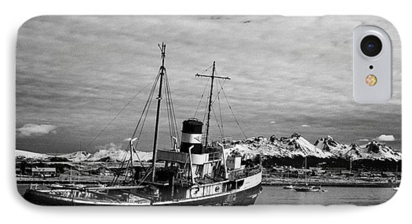 san cristobal saint christopher tugboat wreck in Ushuaia Argentina IPhone Case