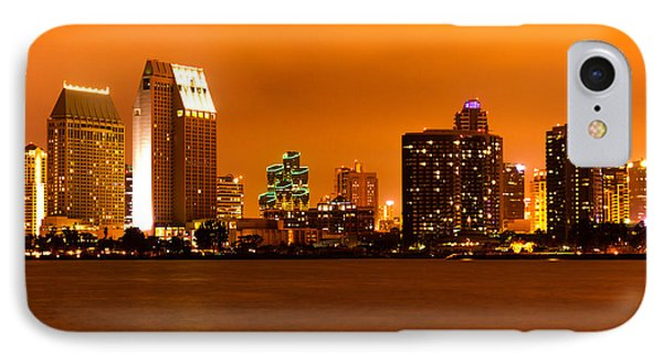 San Diego Skyline At Night IPhone Case by Paul Velgos