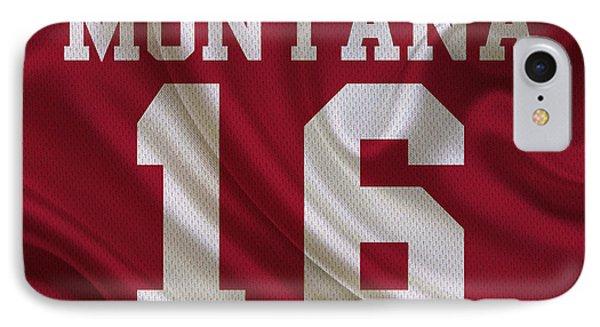 San Francisco 49ers Joe Montana IPhone Case by Joe Hamilton