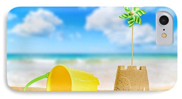 Sandcastle On The Beach IPhone Case by Amanda Elwell