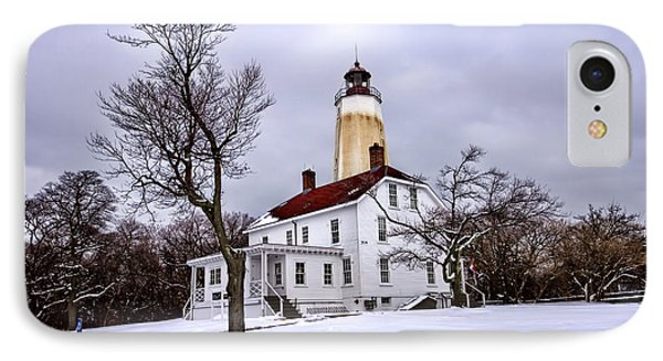 Sandy Hook Lighthouse IPhone Case by Geraldine Scull