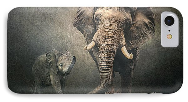 IPhone Case featuring the photograph Save The Elephants by Brian Tarr