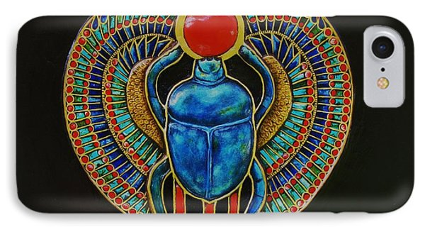 IPhone Case featuring the painting Scarab by Joseph Sonday