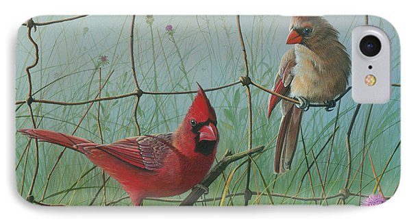 IPhone Case featuring the painting Scarlet by Mike Brown