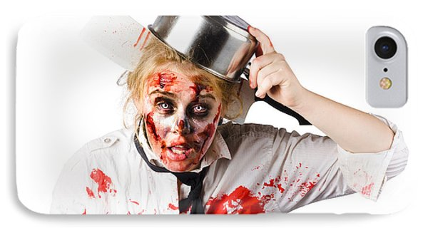 Scary Cook Making Mess With Jam IPhone Case by Jorgo Photography - Wall Art Gallery