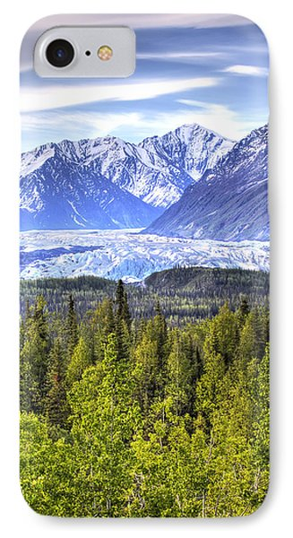 Scenic View Of Matanuska Glacier As IPhone Case by Michael Criss