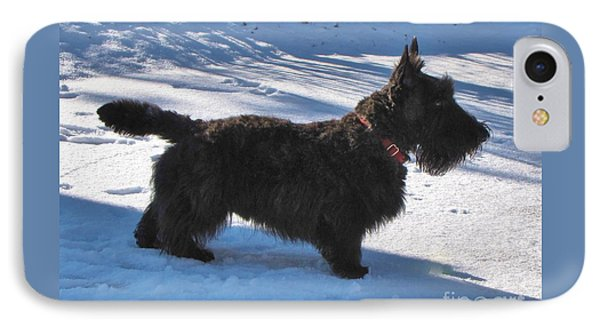 IPhone Case featuring the photograph Scottie Silhouette by Michele Penner