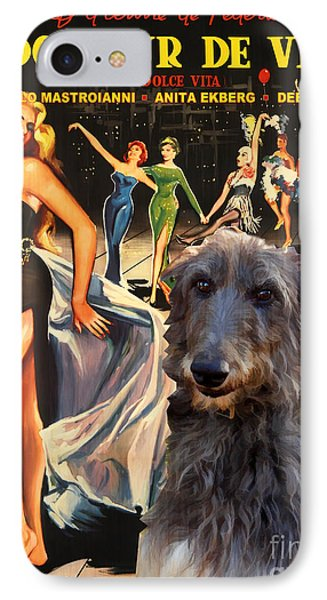 Scottish Deerhound Art - La Dolce Vita Movie Poster Phone Case by Sandra Sij