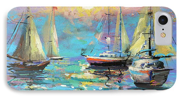 IPhone Case featuring the painting Sea Breeze by Dmitry Spiros