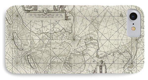 Sea Chart Of The Zuiderzee And The Wadden Sea IPhone Case by Jan Luyken And Johannes Van Keulen (i)